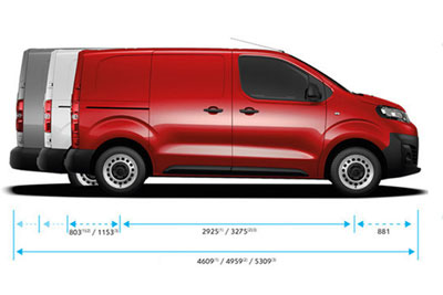 Citroen Vans Dispatch - Choice Of Heights And Lengths